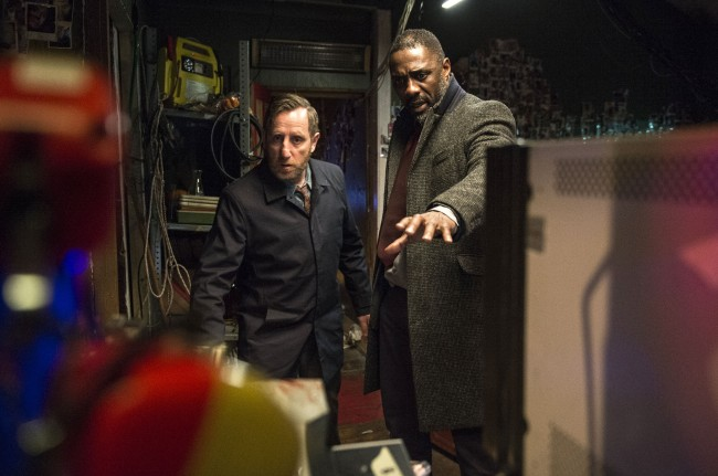 Picture shows: Benny Silver (MICHAEL SMILEY) and DCI John Luther (IDRIS ELBA)